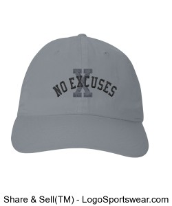 iBrandForward Women's No Excuses Champion Six Panel Low-profile Brushed Cotton Twill Cap Design Zoom