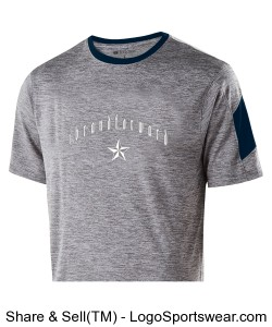 iBrandForward Youth Electron Short Sleeve Graphite,Heather Navy and White Design Zoom