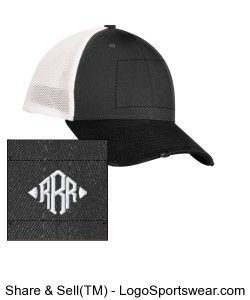 iBrandForward RRR real recognize real embroideried New Era Vintage Mesh Back Cap Black/Graphite/Whit Design Zoom
