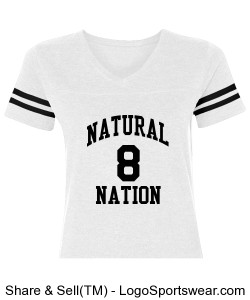 iBrandForward Women's Natural Nation Jersey White and Black. Design Zoom